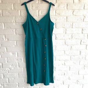 Charming Charlie midcalf length dress teal